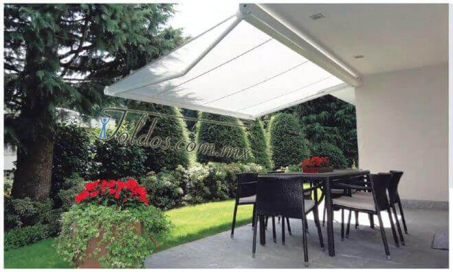 Toldos para jard n jardines exteriores y terrazas toldos - Toldos para exteriores ...